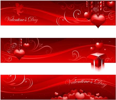 valentine cherub: Valentines day banners