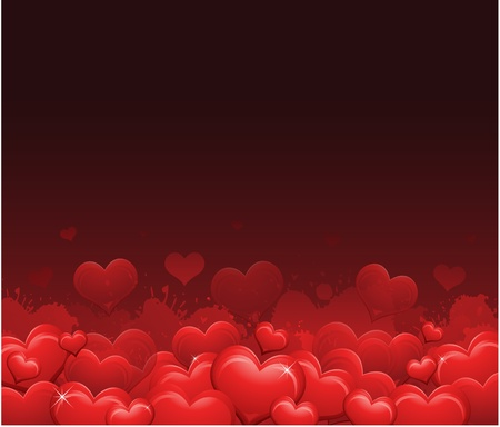 grunge heart: Red Valentines day background