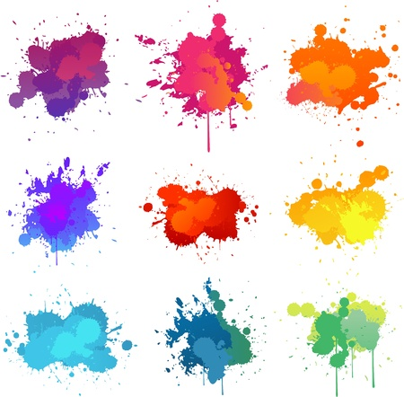 splash: Pintar splat Vectores