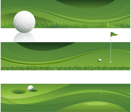 golf ball: green abstract golf background design