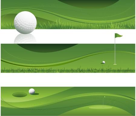 golf drapeau: Green Design abstrait de golf