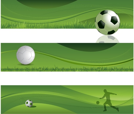 Soccer design banner background Vector