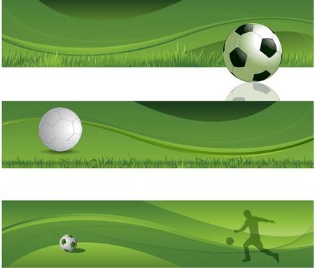 Soccer design banner background Stock Vector - 13443706