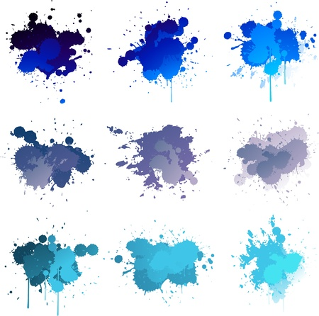 Blue colorful paint splat Stock Vector - 14109028