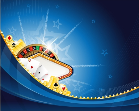 Gambling background with casino elements Vector
