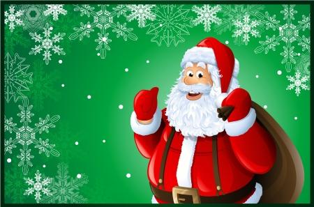 Santa Claus Christmas card Stock Vector - 15705912