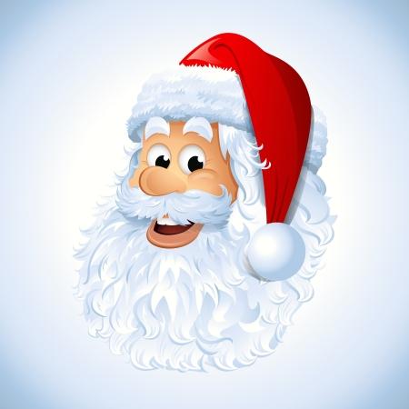 Santa Claus face Vettoriali