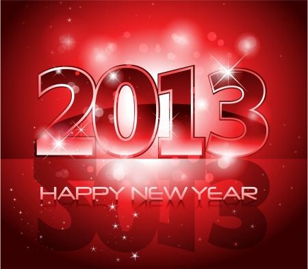 2013 新年の光沢のある背景