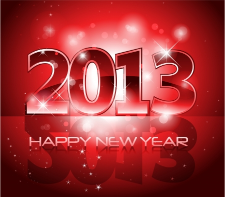 2013 New Year shiny background Illustration