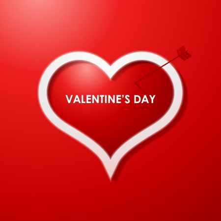 Valentines day card design background Stock Vector - 16604545