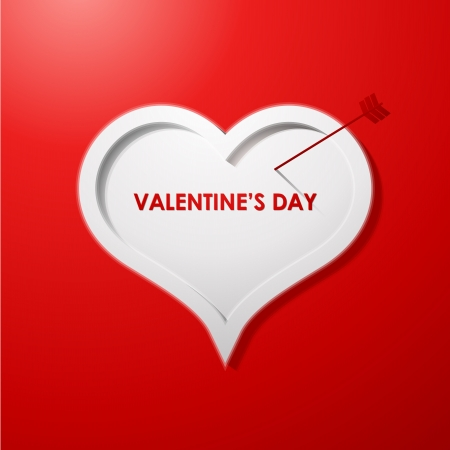 Valentines day card concept background Stock Vector - 16604546