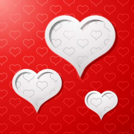 Valentines day card concept background Stock Vector - 16604549