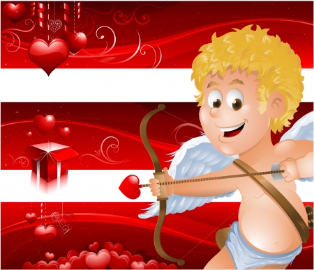 Valentine s Day banners with cupid Stock Vector - 16767833
