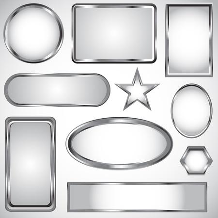 prata: Prata cole��o r�tulo vector