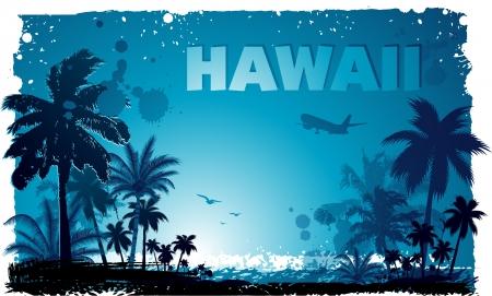 Tropische Hawaiiaanse achtergrond Stock Illustratie