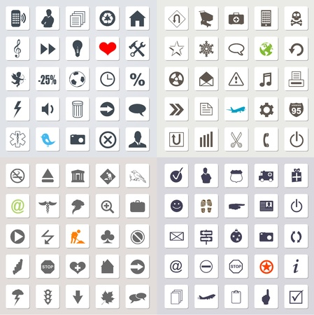 Set of web icons Stock Vector - 17289974