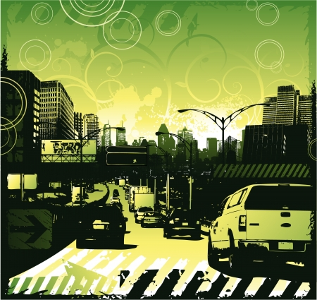 Traffic jam urban design Stock Vector - 17305235