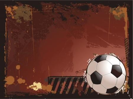 soccer: Grunge soccer background illustration
