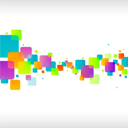 Abstract colorful square background Stock Vector - 17965727