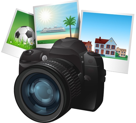 3 d illustrations:  camera illustration Illustration