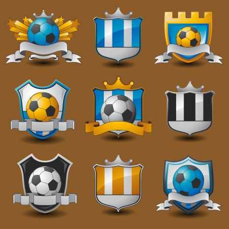 champions league: Soccer team emblems Illustration