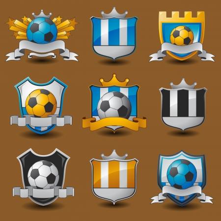 Soccer team emblems Vettoriali