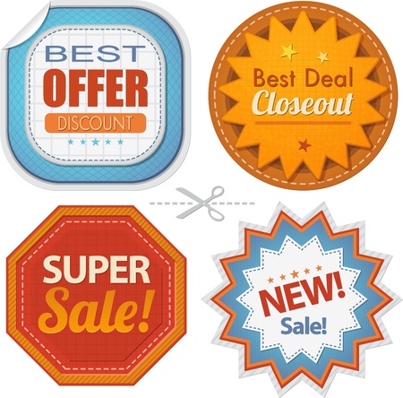 Super sales badges collection Stock Vector - 19249428