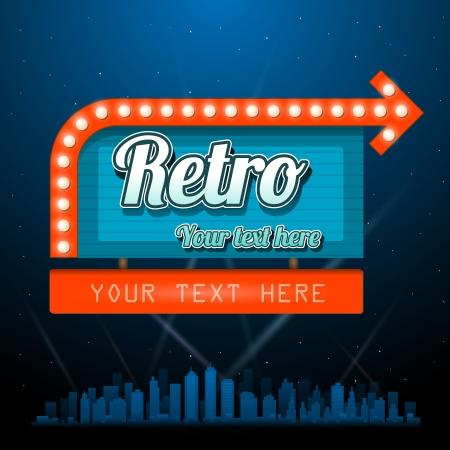 marquee sign: Retro segno motel con copyspace