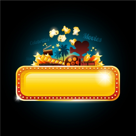 Movie theater sign Stock Vector - 20285525