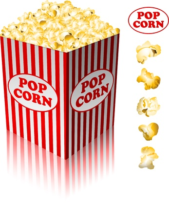 pop: Popcorn in a striped tub