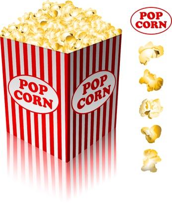 movie film: Popcorn in a striped tub