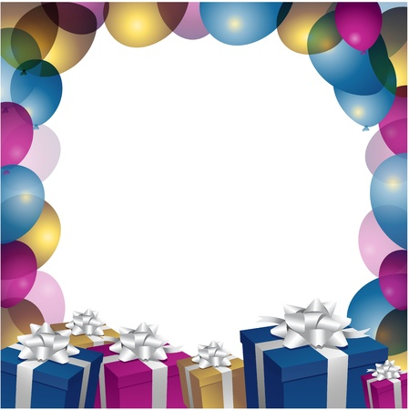 compleanno: Illustrazione di un felice compleanno biglietto di auguri Vettoriali