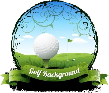 torneio: Fundo Golf Ilustração