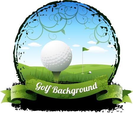 golf swings: Golf background Illustration