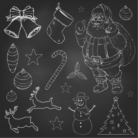 christmas cookie: Christmas doodles set