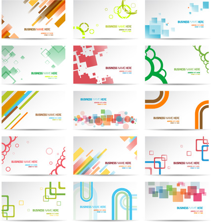 Modern Business Card Set Stock Vector - 22800632