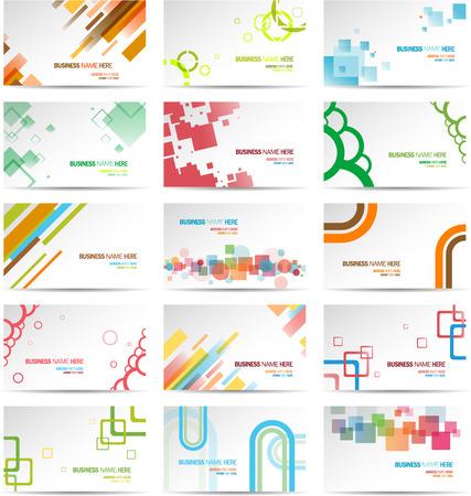Set de cartes de visite modernes Banque d'images - 22800632
