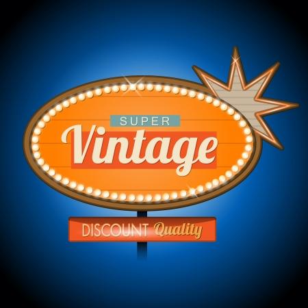 Rétro signe vintage de bannière de motel