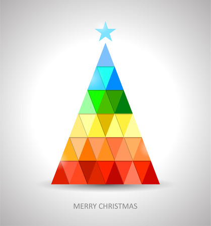 Original christmas tree design in rainbow colors eps 10 Vector