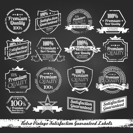 quality guarantee: Premium Quality - Satisfaction Guarantee Label chalk board