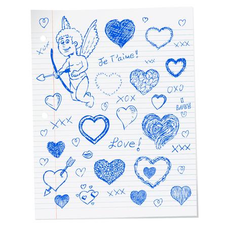 Retro vintage Valentijnsdag wenskaart ontwerp