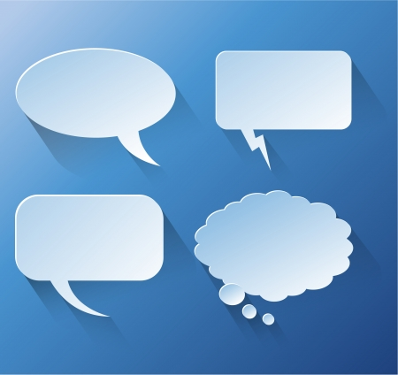creative arts: Abstract design speech bubble copyspace