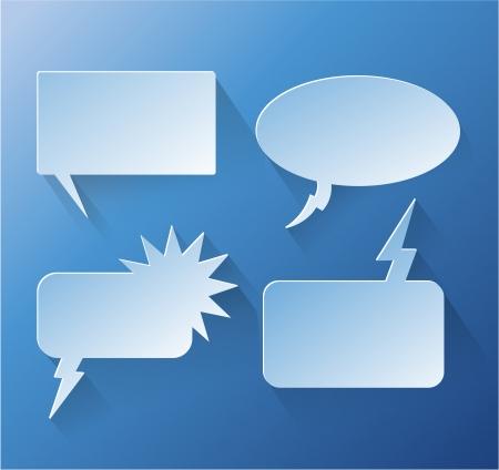 speech bubble: Abstraite discours conception bulle copyspace eps 10