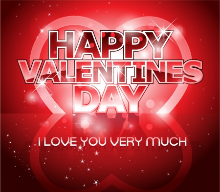 Modern Valentines day letter greeting background design Vector