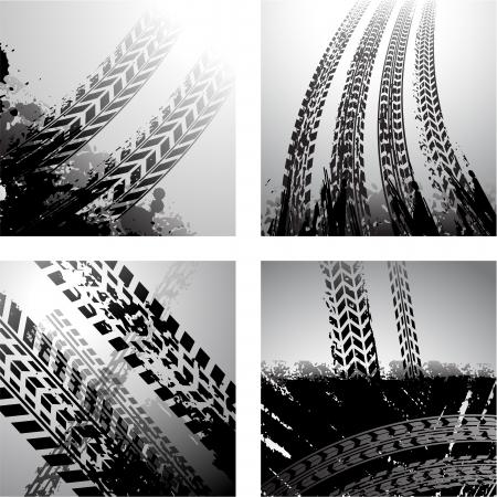 Schmutzige Reifenspuren Grunge-Hintergrund Standard-Bild - 25469429