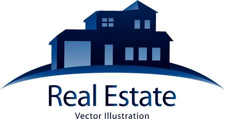 building construction: Real estate icon Illustration