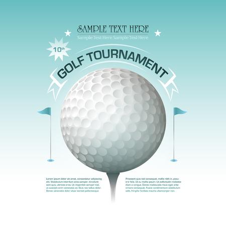 골프 대회 초대 배너 배경
