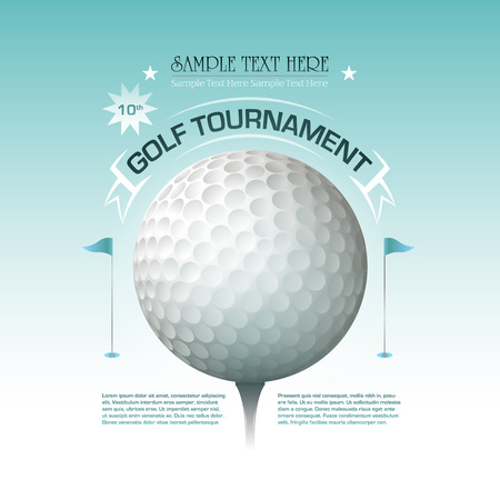 Golf tournament invitation banner background Illustration
