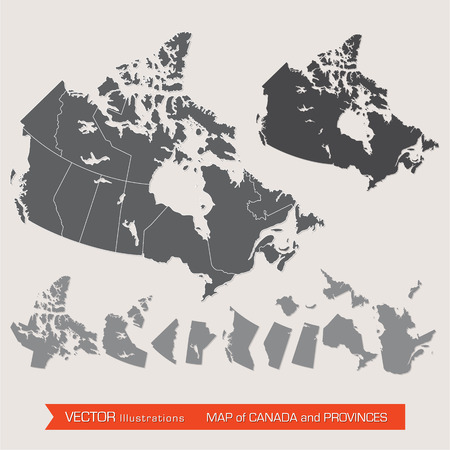 canada: detailed map of canada and provinces