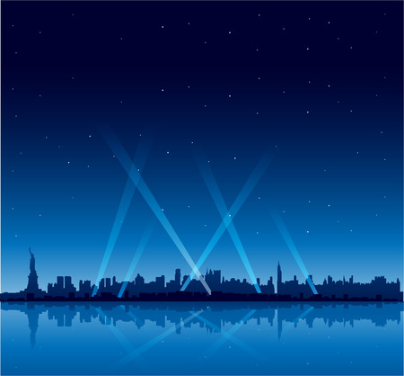New York city at night party copyspace background Illustration
